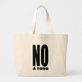 Not to everything jumbo tote bag
