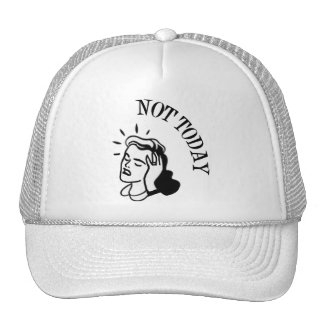 Not Today - Retro Lady With Headache Trucker Hats