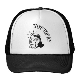Not Today - Retro Lady With Headache Mesh Hat
