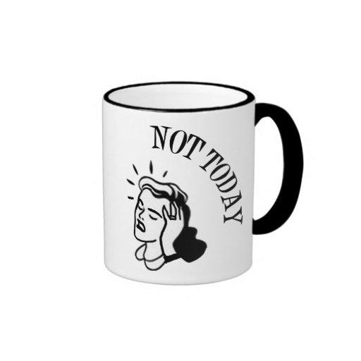 Not Today - Retro Lady With Headache Mug