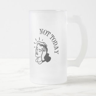 Not Today - Retro Lady With Headache Mugs