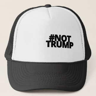 Not Trump - Blk Logo Trucker Hat
