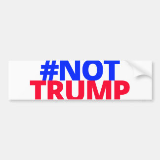 Not Trump - Color Logo Bumper Sticker