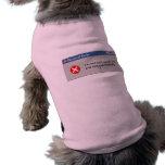 Not User-friendly doggie shirt!