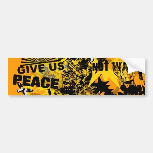 Not War Bumper Stickers