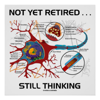 Not Yet Retired ... Still Thinking Neuron Synapse Posters