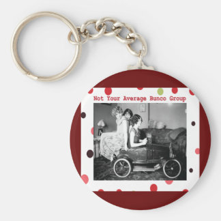 not your average bunco group basic round button key ring