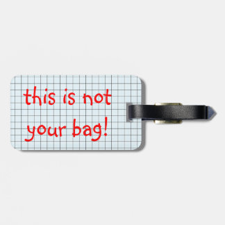 not your bag composition book travel bag tags