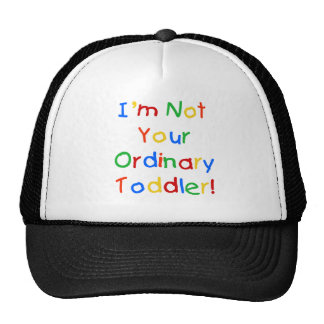 NOT YOUR ORDINARY TODDLER TRUCKER HAT