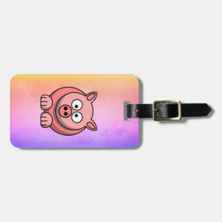 Not Yours Pastel Piglet Piggywiggy Pink Luggage Tag