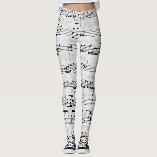 Nota Bene (black and white) Leggings