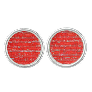 Nota Bene (red and white) Cuff Links