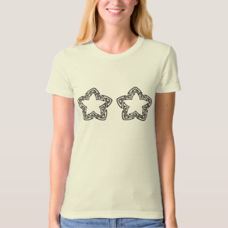 notable bold double star shaped flower like motif T-Shirt
