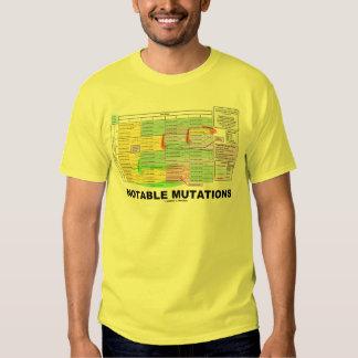 Notable Mutations (Genetics Amino Acids) T Shirts