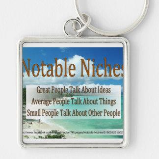 Notable Niches keychain