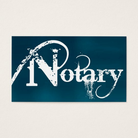 Notary Brushed Business Card