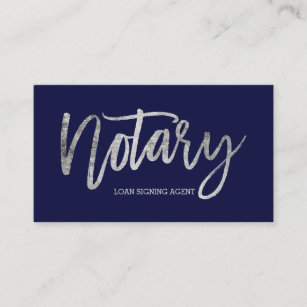 Navy and silver business cards zazzle uk notary elegant chic silver typography navy blue business card colourmoves