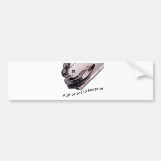 Notary Public Bumper Sticker