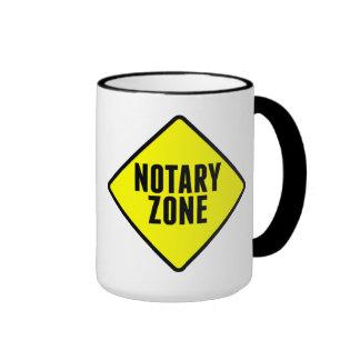 Notary Zone Road Sign Ringer Mug