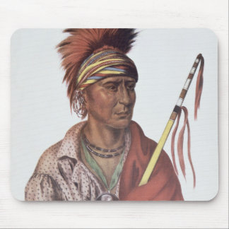 Notchimine or No Heart, an Iowa Chief Mouse Mat