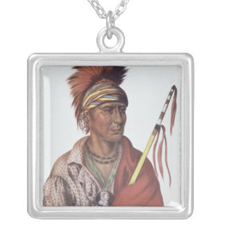Notchimine or No Heart, an Iowa Chief Necklaces