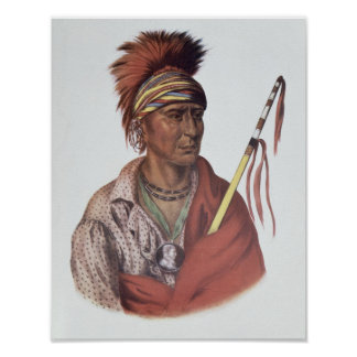 Notchimine or No Heart, an Iowa Chief Poster