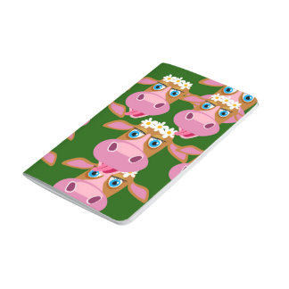 Note book cow face journal
