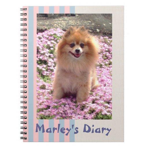 Note Book | Pomeranian Pink Flowers