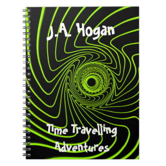 Note book time travel spiral mystery cover