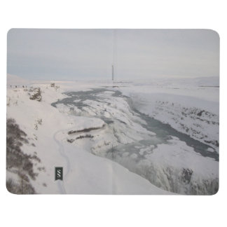 Note Book With Gullfoss Waterfall Pictures