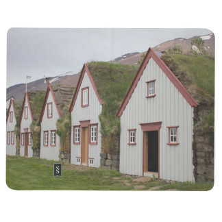 Note Book With Icelandic Houses and Church Picture