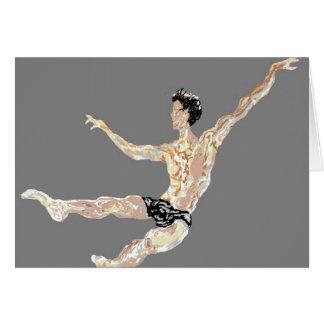 Note Card Blank inside/ Ballet Dancer