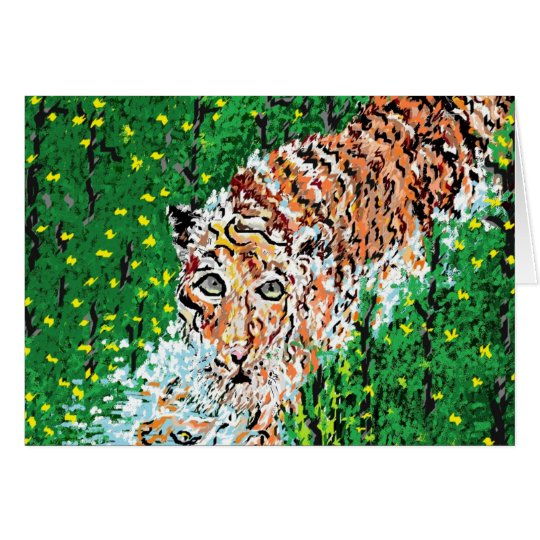 Note Card Blank inside / Tiger On The Prowl