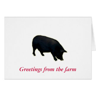 Note Card-Greetings from the farm Card