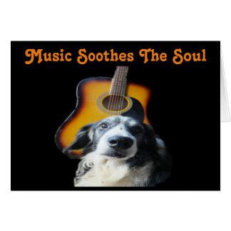 Note Card Guitar Dog