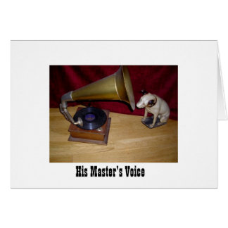 Note Card - His Master's Voice