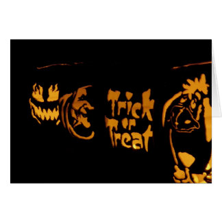 """Note Card -  Holloween - """"Trick or Treat """""""