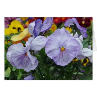 Note Card: Liliac Pansies Card