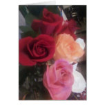 Note Card Rainbow of Roses