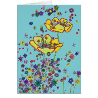 Note Card - Scattered Flowers