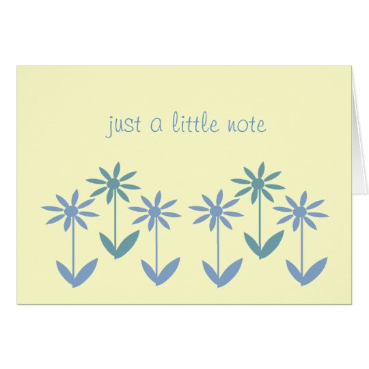 Note Card - Simply Blue Daisies