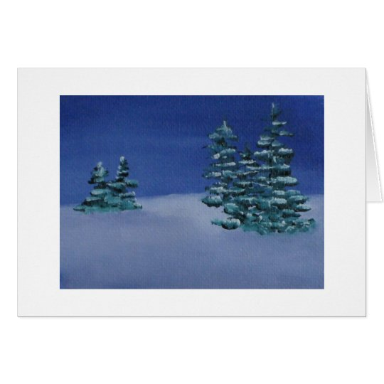 Note Card - Winter Night