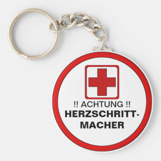 NOTE!  Cardiac pacemaker Basic Round Button Key Ring