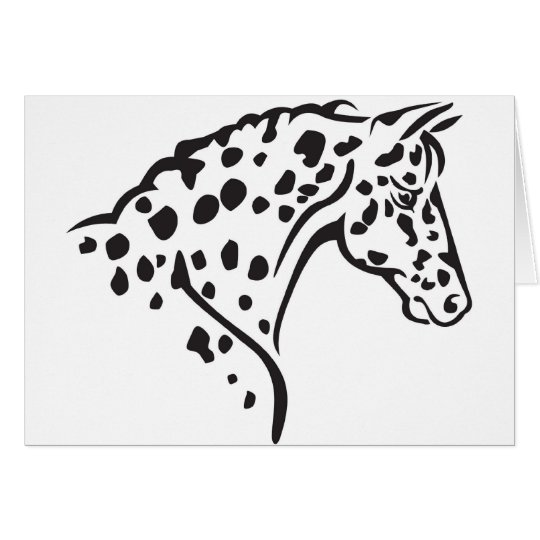 NOTE CARDS--LEOPARD APPALOOSA CARD