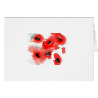 note cards - poppies