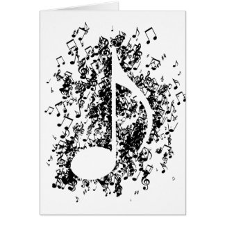 Note Explosion Greeting Card