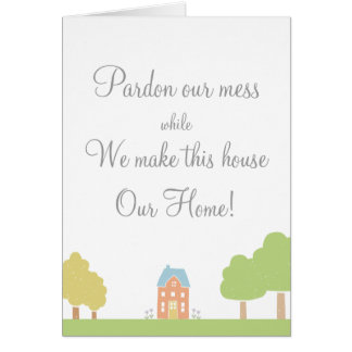 Note for the neighbors new home card