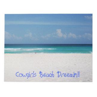 Note pad Cowgirls Beach Dreemin!!