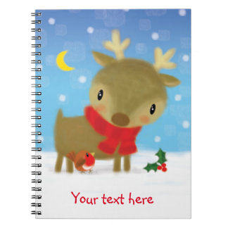 ♥ NOTE PAD ♥ cute christmas reindeer notebook