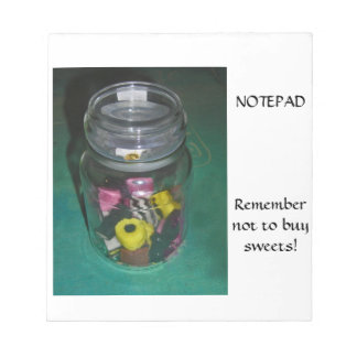 Note Pad - Jar of Sweets